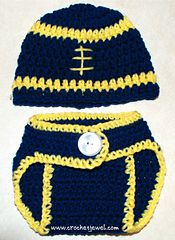 Ravelry: Football Hat and Diaper Cover pattern by Amy Lehman