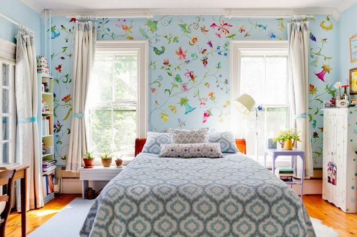 kinderzimmertapete mädchen tapetenmuster florale elemente - jugendzimmer tapeten home design ideas