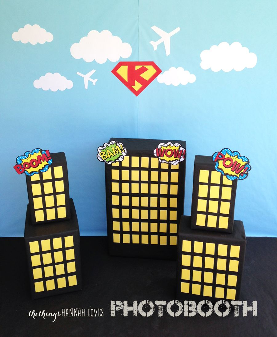 Backdrop superhero party printables batman background backdrop - Free Downloadable Superhero Printables Could Use This For A Trunk Or Treat Idea