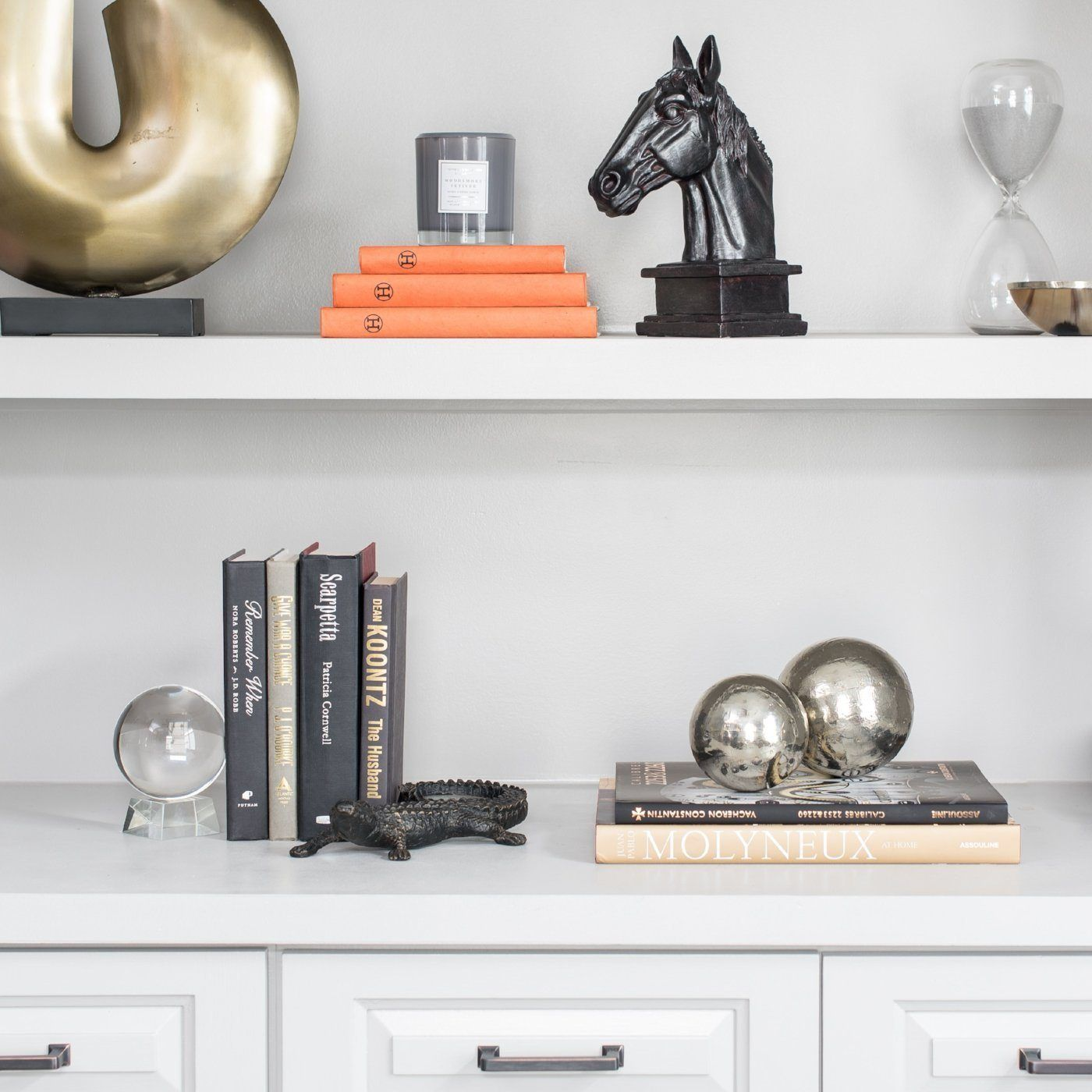 Our Refined Masculine Bookshelf Set, Uses Dark And Neutral Woods