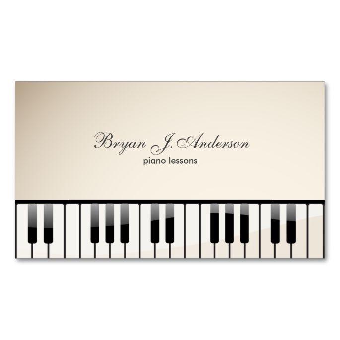 Piano Music Teacher Business Card Zazzle Com Music Business Card