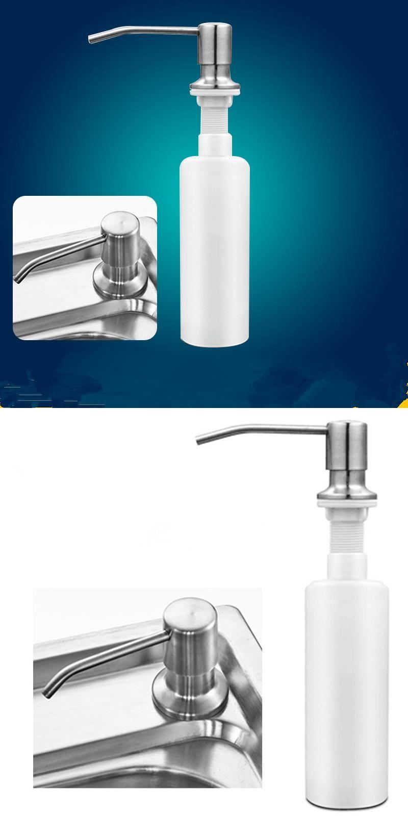 Universal Home Bathroom Kitchen Liquid Soap Dispenser Bottle Silver ...