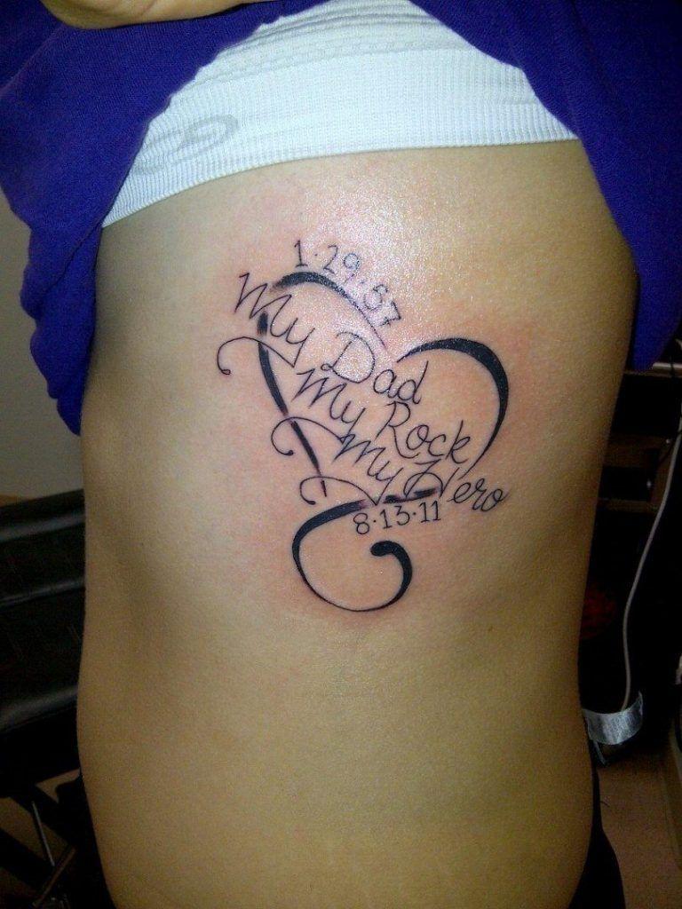 Father Memorial Tattoo : father, memorial, tattoo, Memorial, Tattoos, Women, 78305, Source, Tattoos,