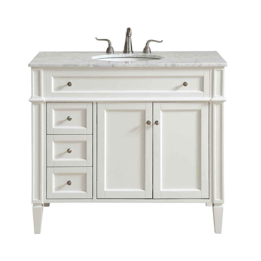 Awe Inspiring Elegant Furniture Nanticoke 40 In Single Bath Vanity W 3 Interior Design Ideas Gentotryabchikinfo