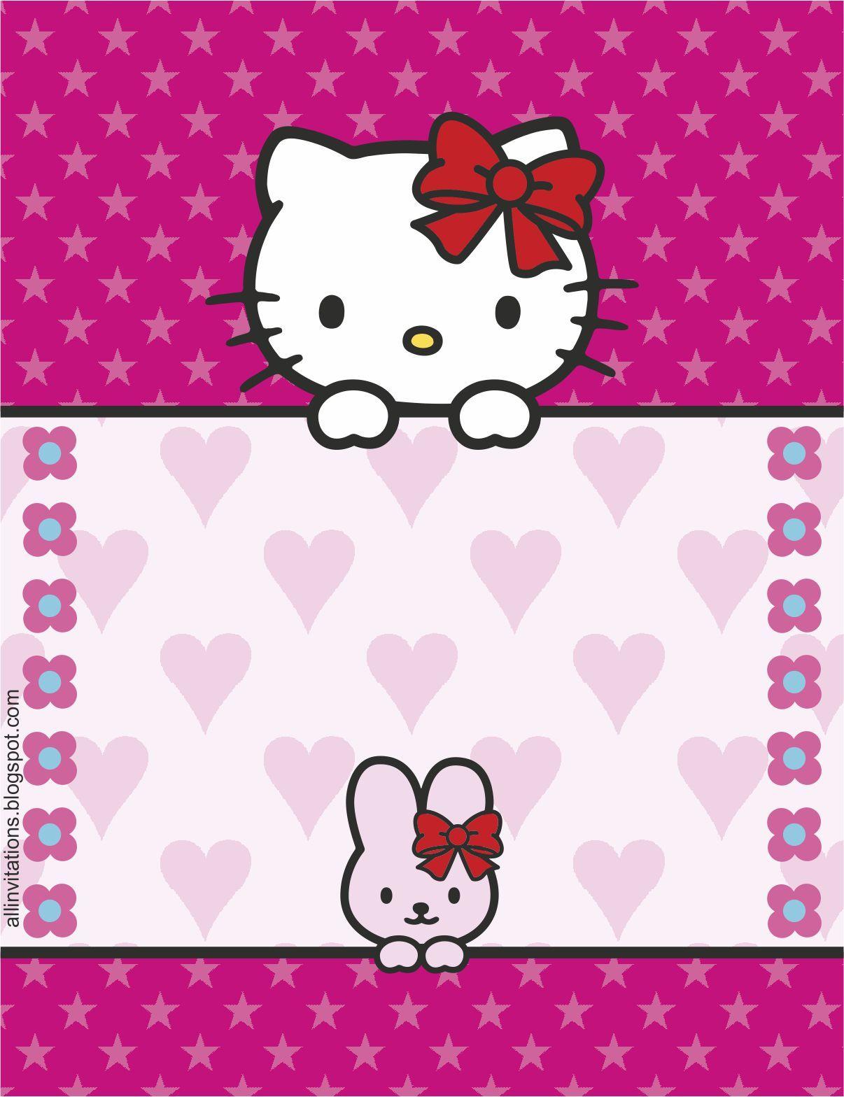 Plantilla Invitación Hello Kitty Invitaciones Hello Kitty