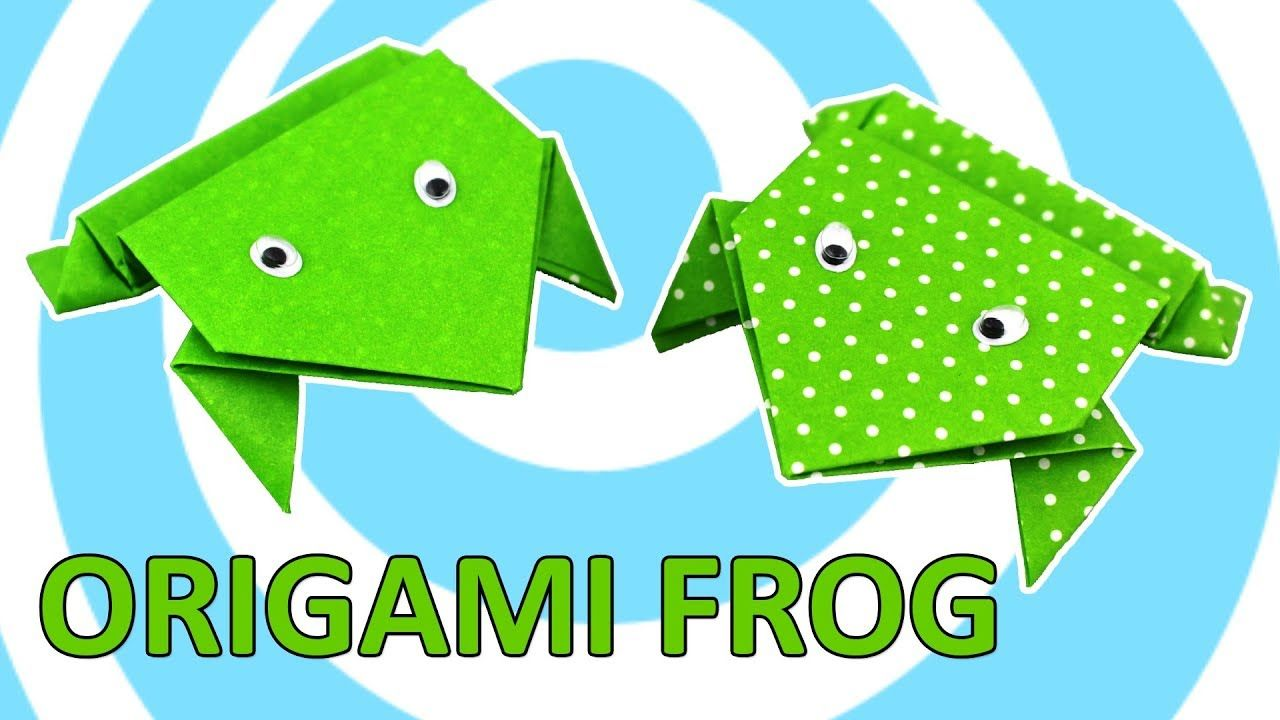Origami Jumping Frog Instructions Origami Instructions Pinterest