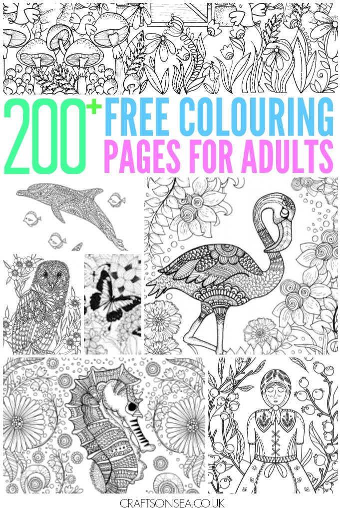 200+ Gorgeous Free Colouring Pages For Adults | Ausmalbilder ...