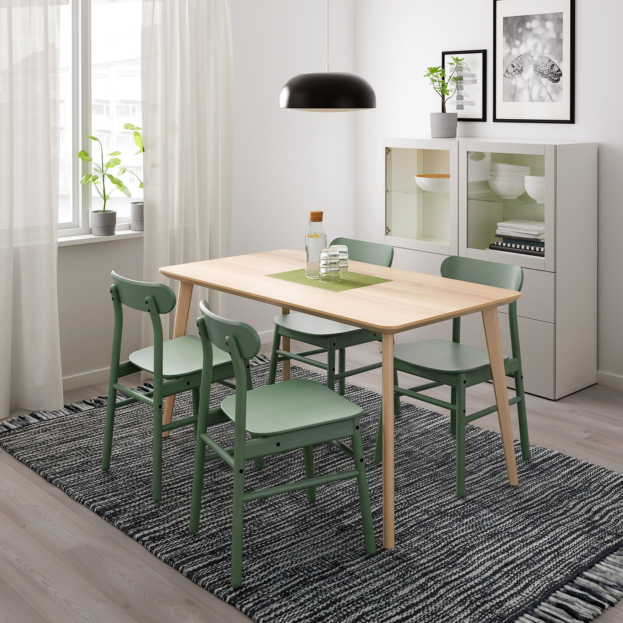 Lisabo Ronninge Table And 4 Chairs Ash Veneer Green Ikea In 2021 Ikea Table And Chairs Ikea Dining Table Ikea Dining [ 2000 x 2000 Pixel ]