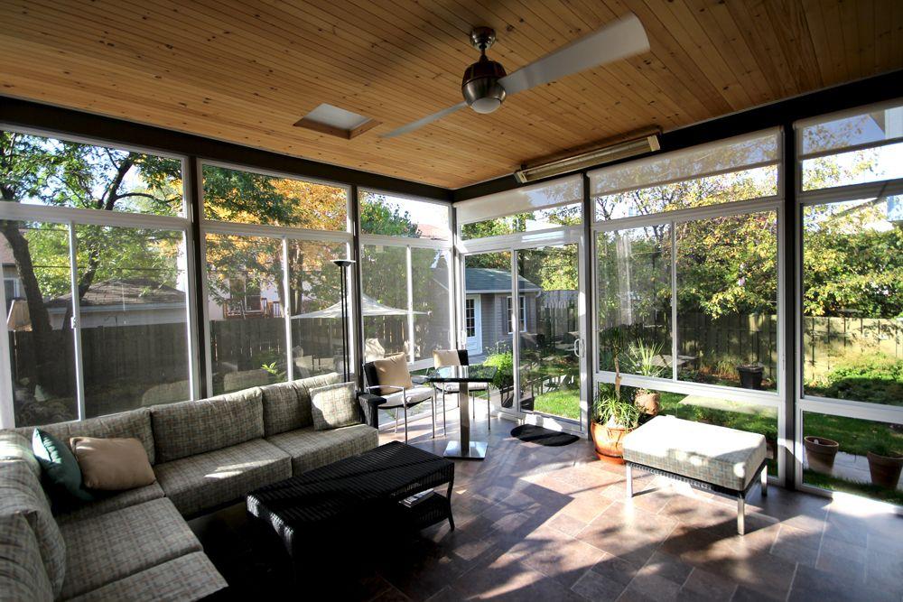 Idée d'aménagement intérieur d'un solarium plein verre avec toiture isolée. Véranda Plus ...