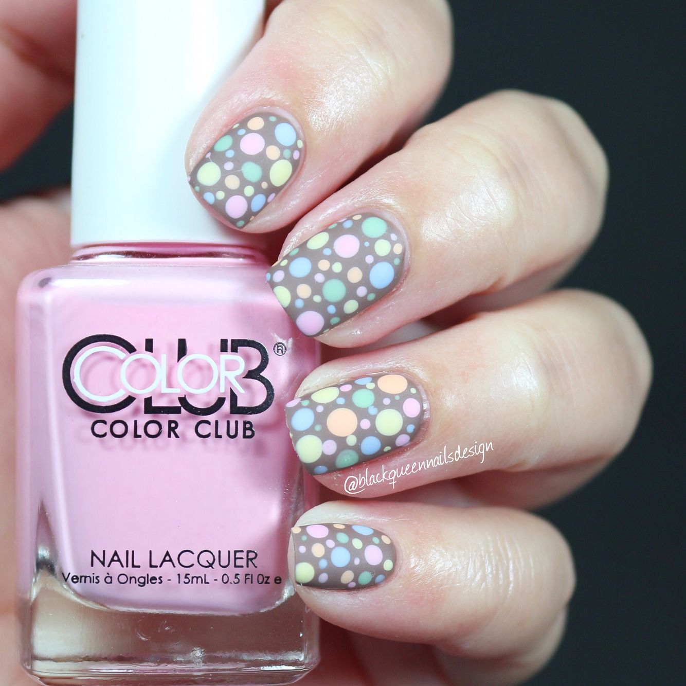 Spring dots by ig blackqueennailsdesign beauty nails pinterest