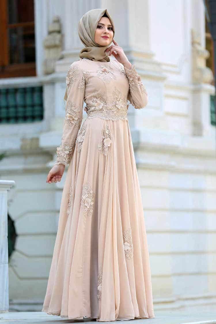 Model Gamis Brokat Untuk Pesta Pernikahan  Gaya hijab, Gaun