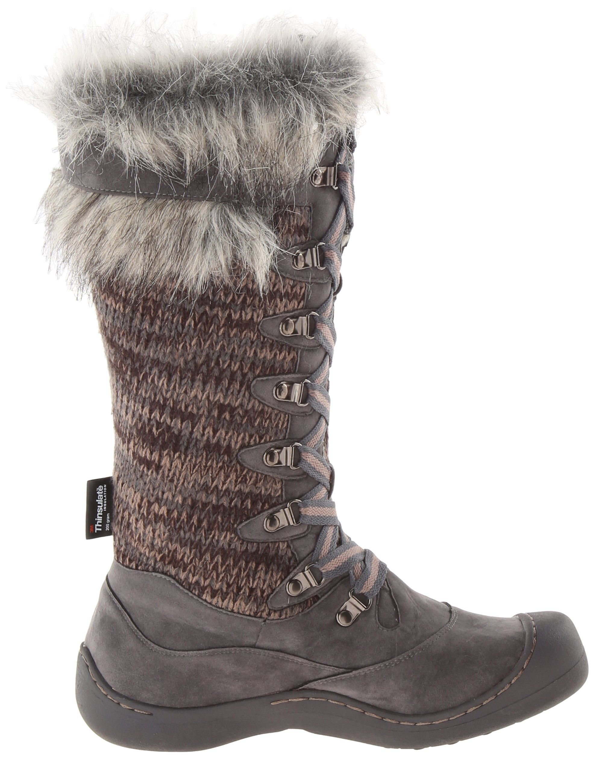 Women's Gray Snow Boots US 9