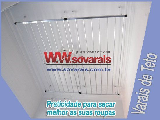 Varais de teto é na Sóvarais (11) 3231-3144 3151-5284 www.sovarais.com.br/loja  #promoção #varais #varal #lojavirtual