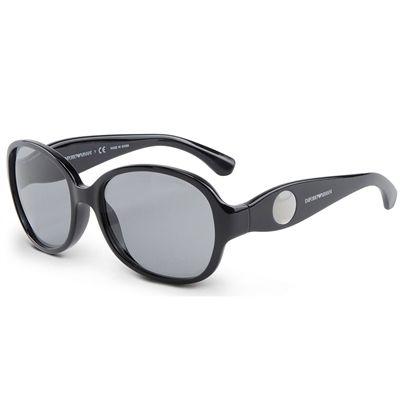 Óculos de Sol Emporio Armani Feminino Preto com Lentes Cinza Total -  EA404050171 e8ca6d7528