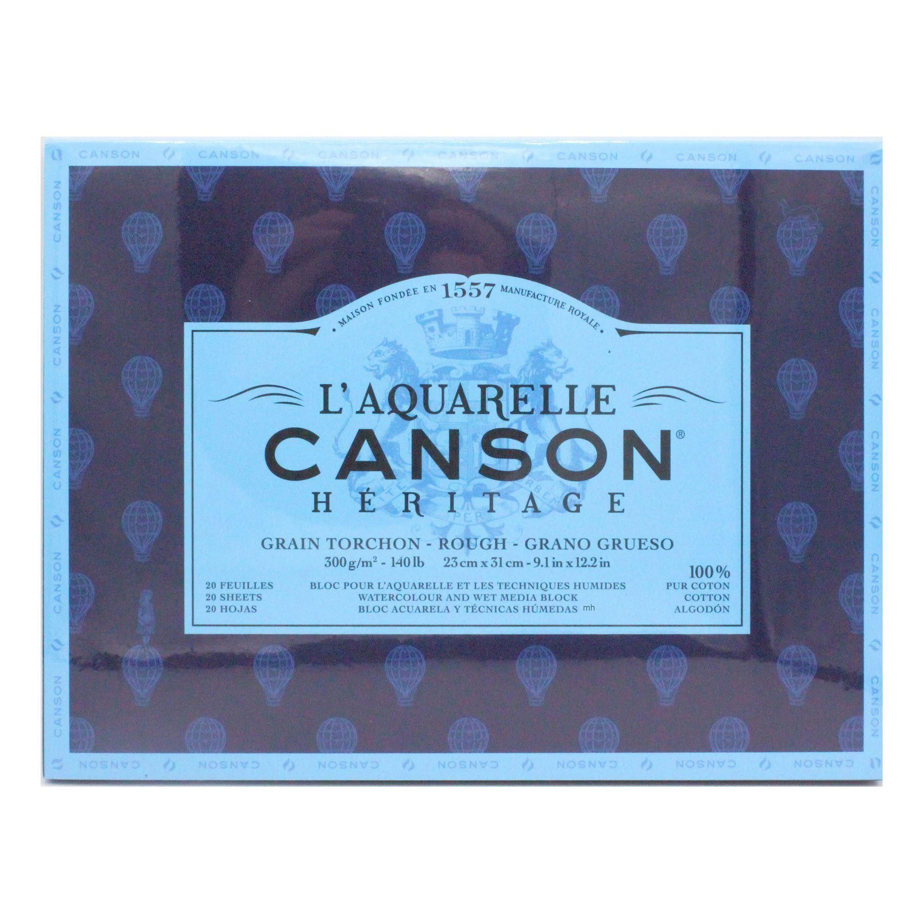 Canson L Aquarelle Heritage Watercolour Block Rough Paper 300gsm