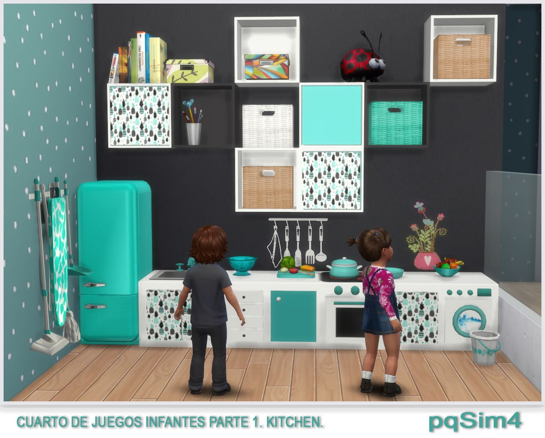 Cuarto de juegos para infantes. Parte 1 Kitchen. Sims 4 Custom ...