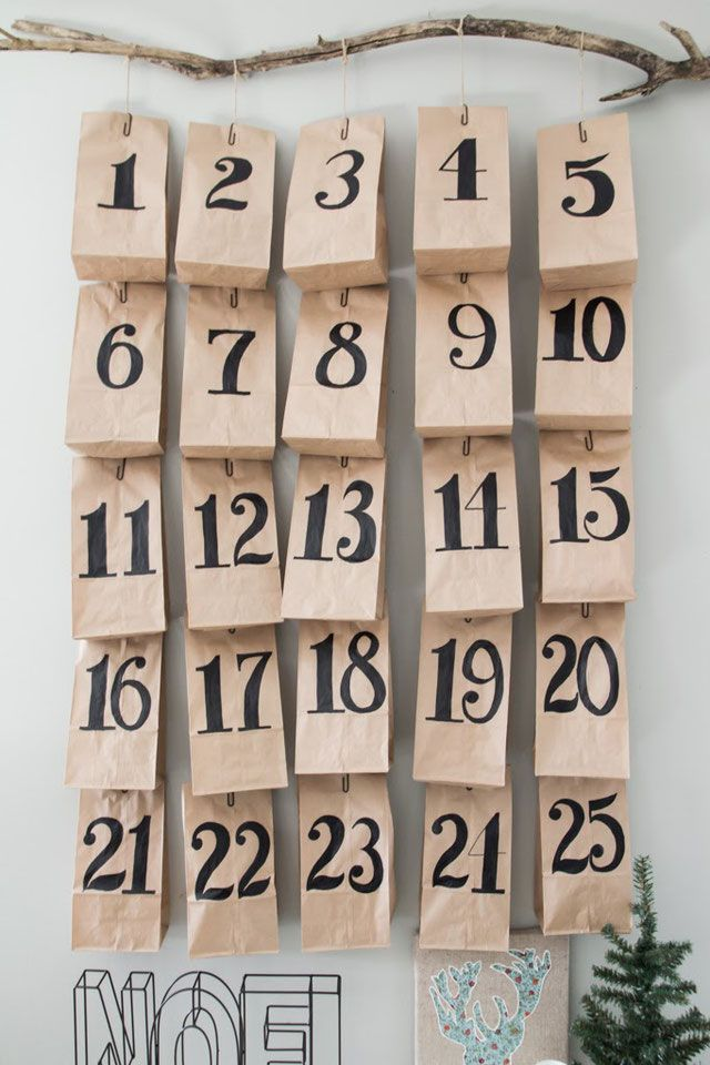 Photo of stylish DIY advent calendar from Pinterest