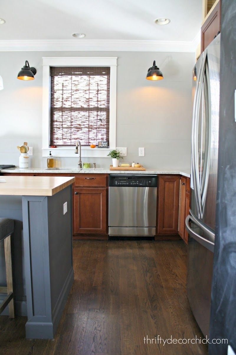 How To Install A Cement Board Planked Wall Kitchen Cabinets Kitchen Dinning Room Kitchen Layout