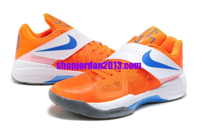 Nike Zoom KD 4(IV) Shoes OrangeWhite Kevin Durant Shoes