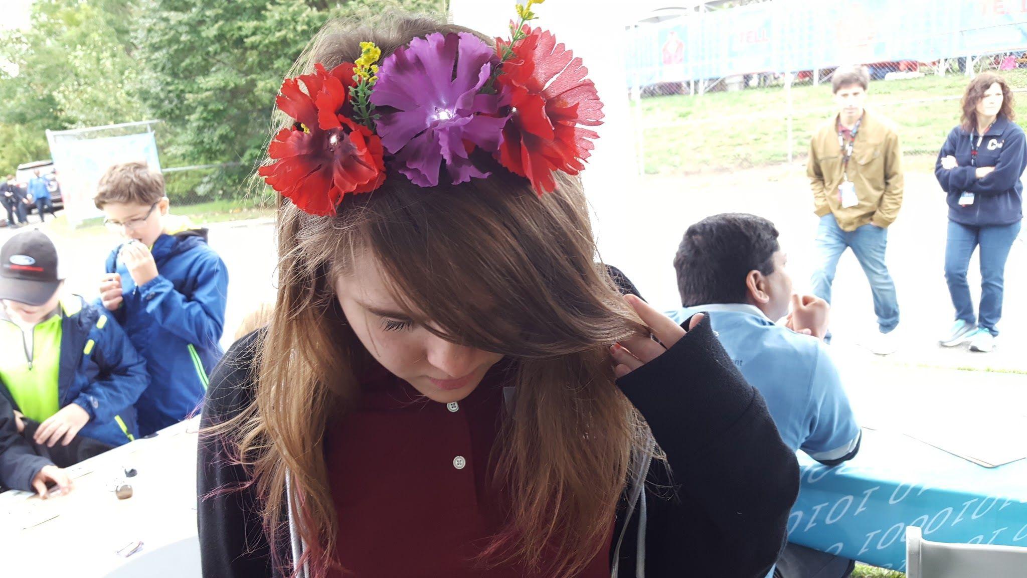 Frida Kahlo Flower Crown Chibitronics Stick On Led Lights