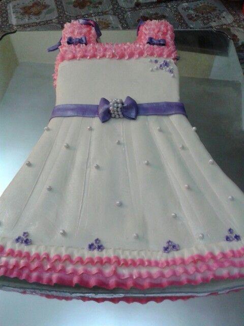 Frock Cake Birthday Cakes Pinterest Cake Birthday Cake And