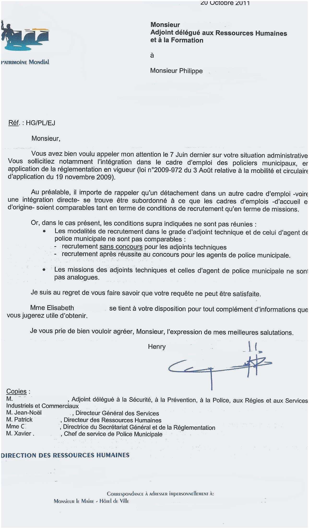 Nouvelle Exemple Lettre De Demission Adjoint Au Maire