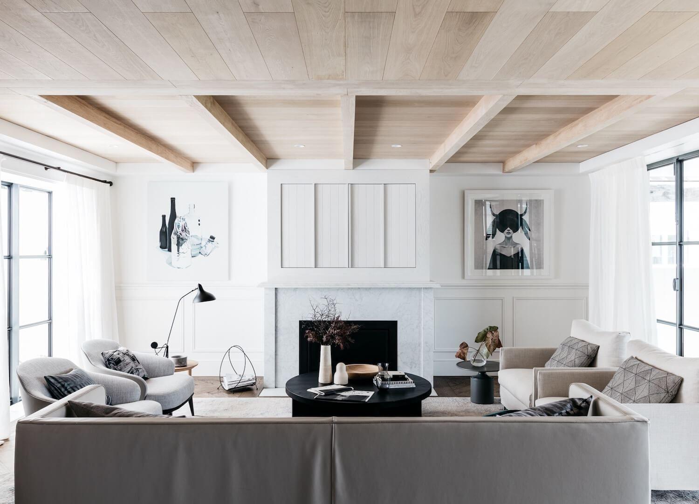 Decoración de interiores de salón de estilo francés elegante ...