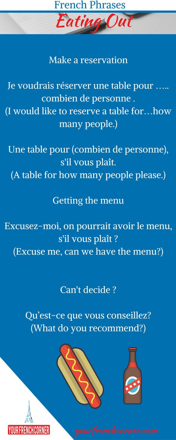 Eating out in Paris? Here is what you need to remember! #learnfrench #fle  #frenchimmersion