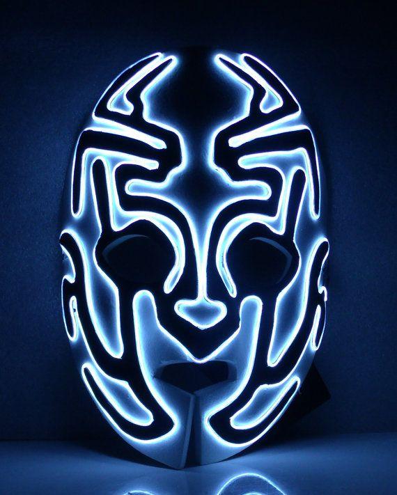 Foam Alien Glow El wire mask by JWRodriguezDesigns on Etsy ...