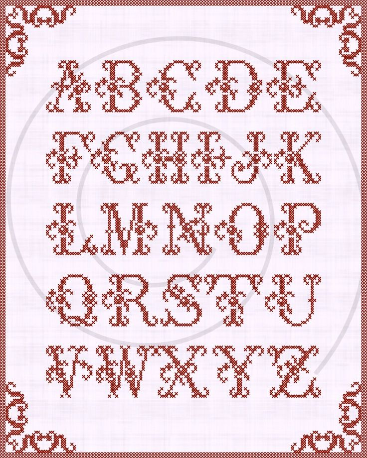 Cross stitch free chart クロスステッチフリーチャート abc Хрестики