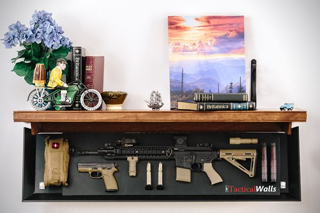 TacticalWalls Hidden Shelves For Firearms