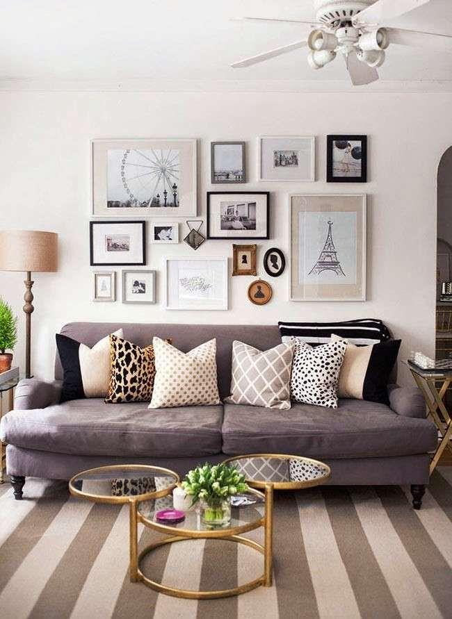 Decorare le pareti con foto - Soggiorno con foto | Pinterest ...