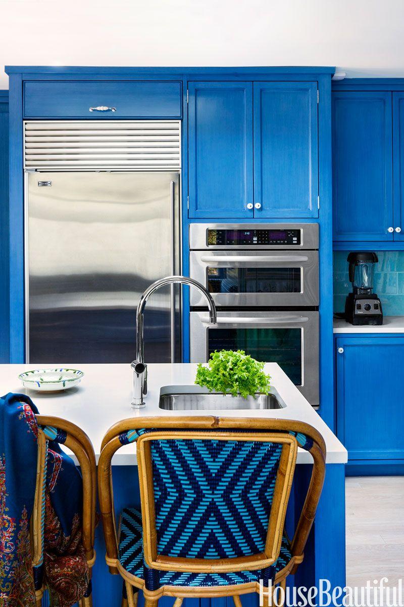 Best Kitchens Of 2013 Blue Kitchen Designs Blue Kitchen Walls Modern Kitchen Design