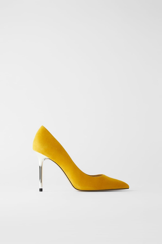 Zamszowe Buty Na Metalizowanym Obcasie Zara Polska Leather Heel Shoes Suede Shoes Shoes