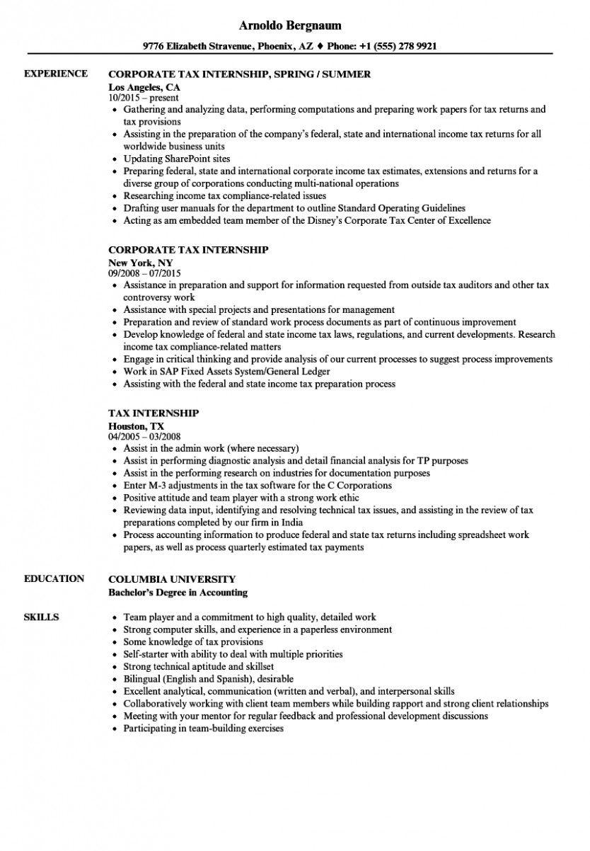 11 Accounting Scholar Resume For Internship Student Resume Accounting Student Basic Resume