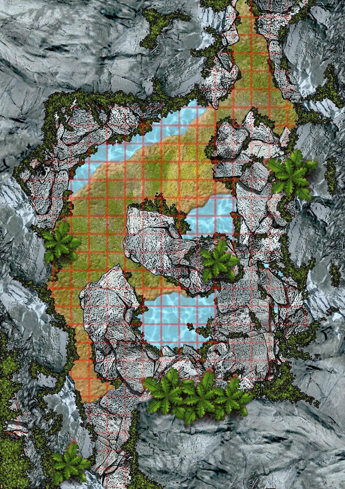 Jungle Mountain Pass trail cliffs | DD Map | Fantasy map ...