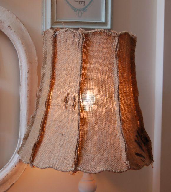 #burlap Lamp Shade