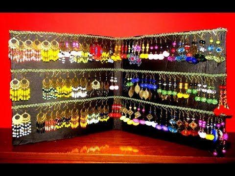 Porta orecchini fai da te handmade youtube bijoux - Porta collane e orecchini ...