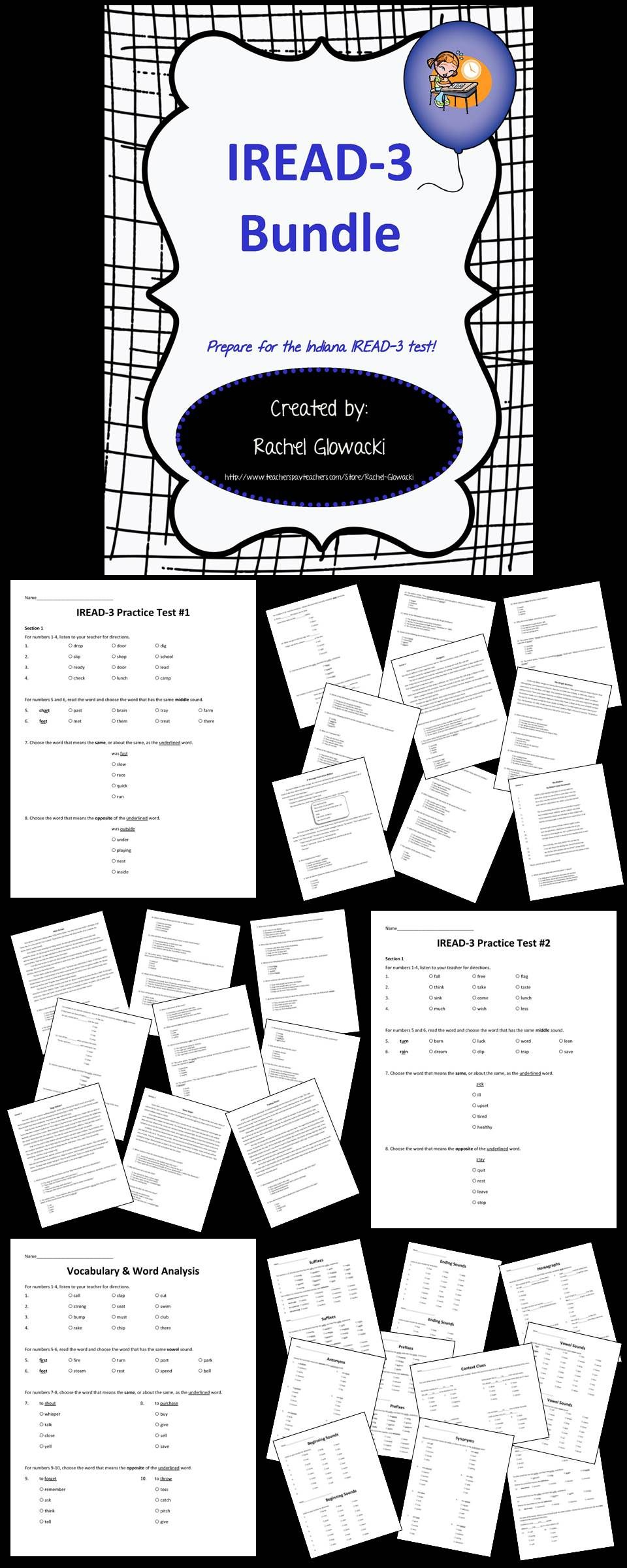 worksheet Iread Practice Worksheets iread 3 bundle chart teacher and students get your ready with this robust prep it includes 2 full practice tests reading passages also included in the bund