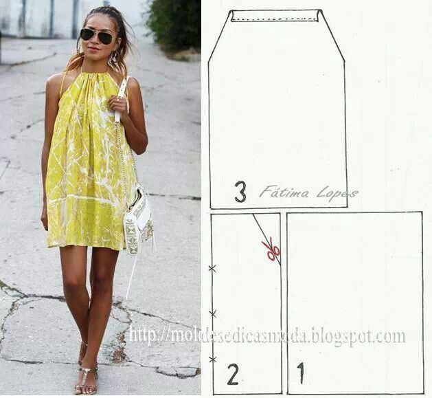 Vestido | TENDE | Pinterest | Vestidos, Costura and Vestidos simples