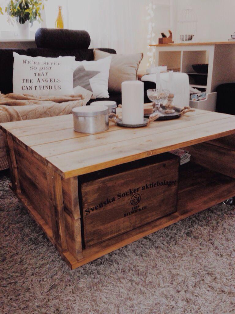 snickra enkelt bord av brädor,diybord,soffbord,coffetable | Diy ...