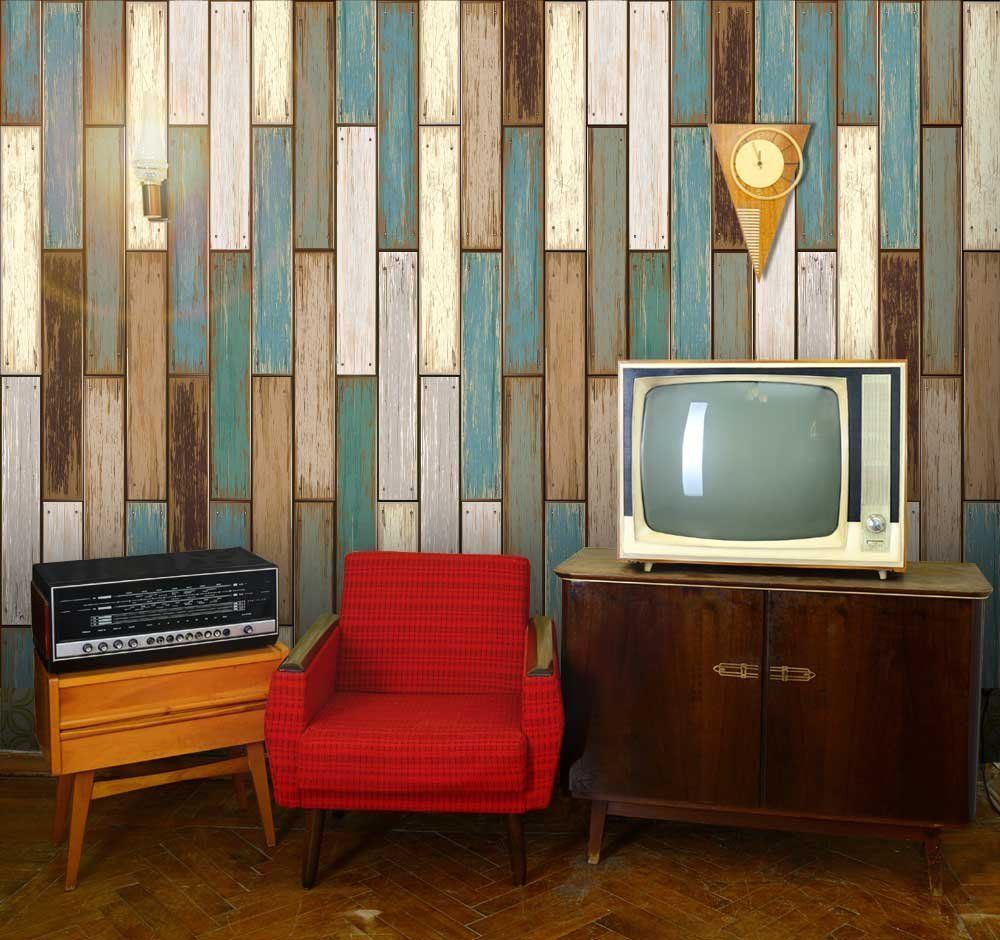 vertical 1960s retro wood textured paneling wallpattern wall muralvertical 1960s retro wood textured paneling wallpattern wall mural, removable wallpaper, home decor ad
