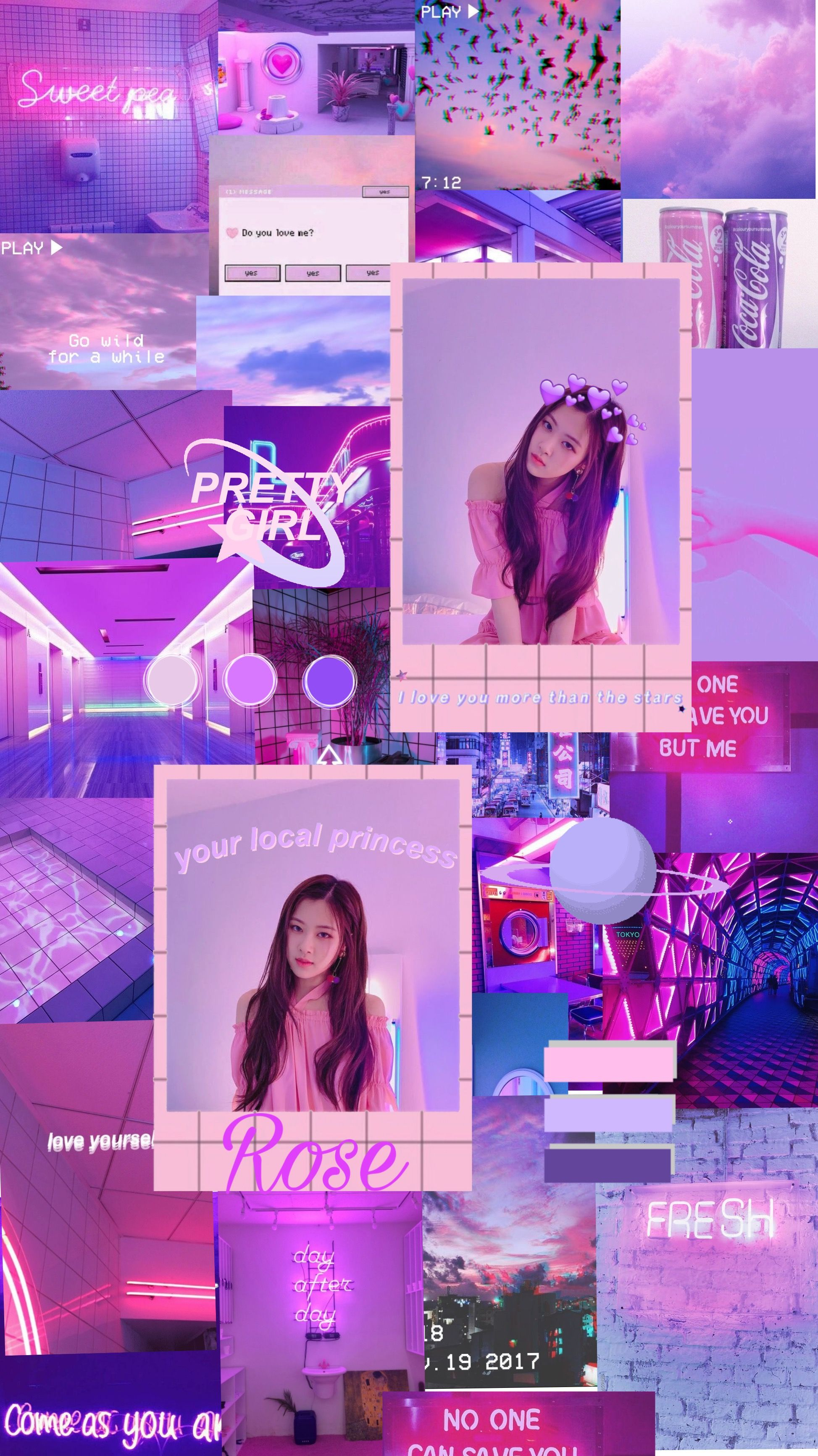 Rose Pink And Purple Aesthetic Wallpaper Purple Aesthetic Really Cool Wallpapers Pastel Aesthetic