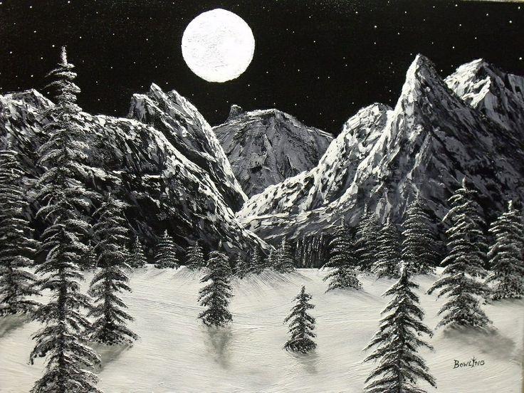 Scratchboard Art Landscape Scratch Board Snowy
