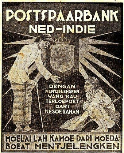 Postpaarbank 1939 Now Changed Into Bank Tabungan Negara Btn Sejarah Kuno Indie Iklan Zaman Dulu