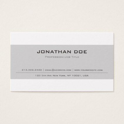 Classic Beige Personalized Business Cards