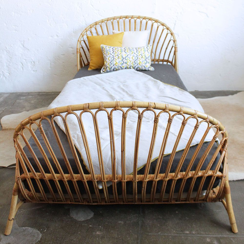 lit rotin vintage corbeille f352 rotin corbeille et. Black Bedroom Furniture Sets. Home Design Ideas