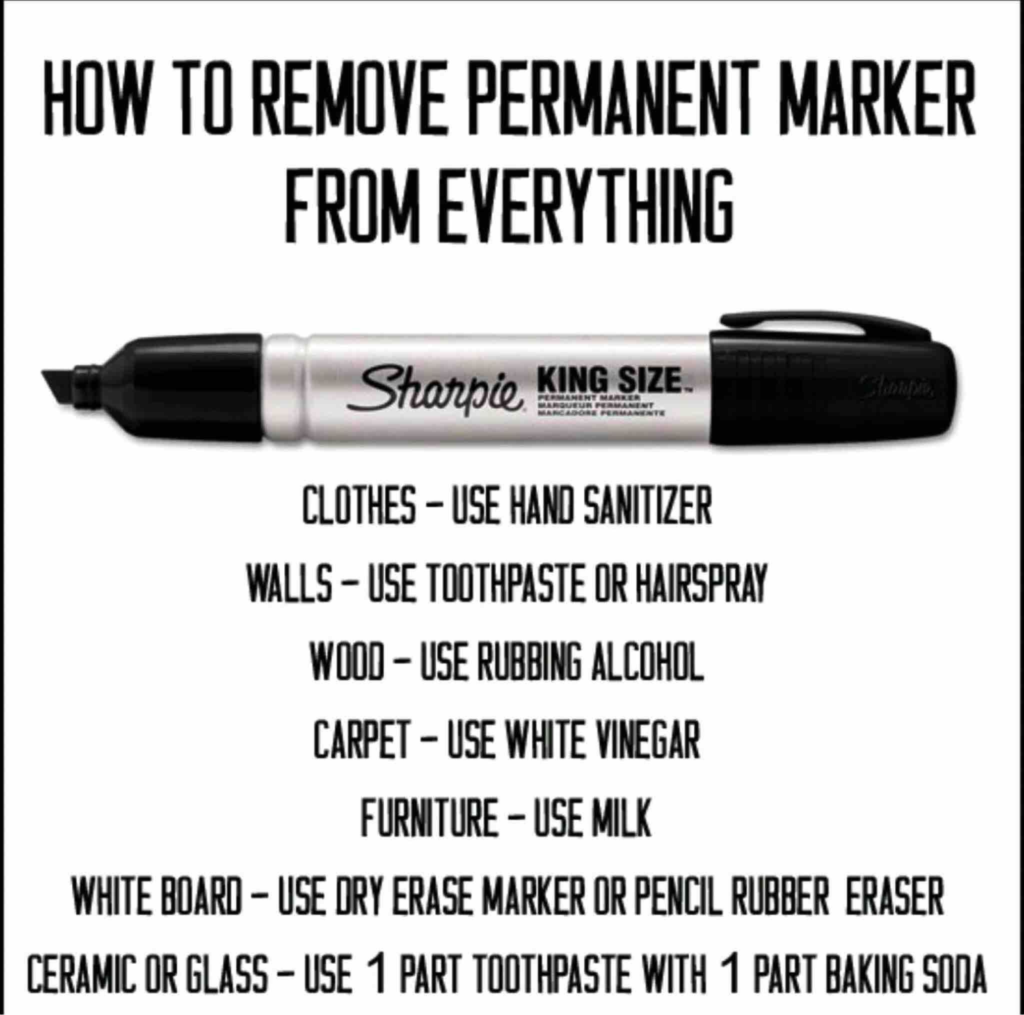 It S Not Permanent Tips To Remove Permanent Marker Remove