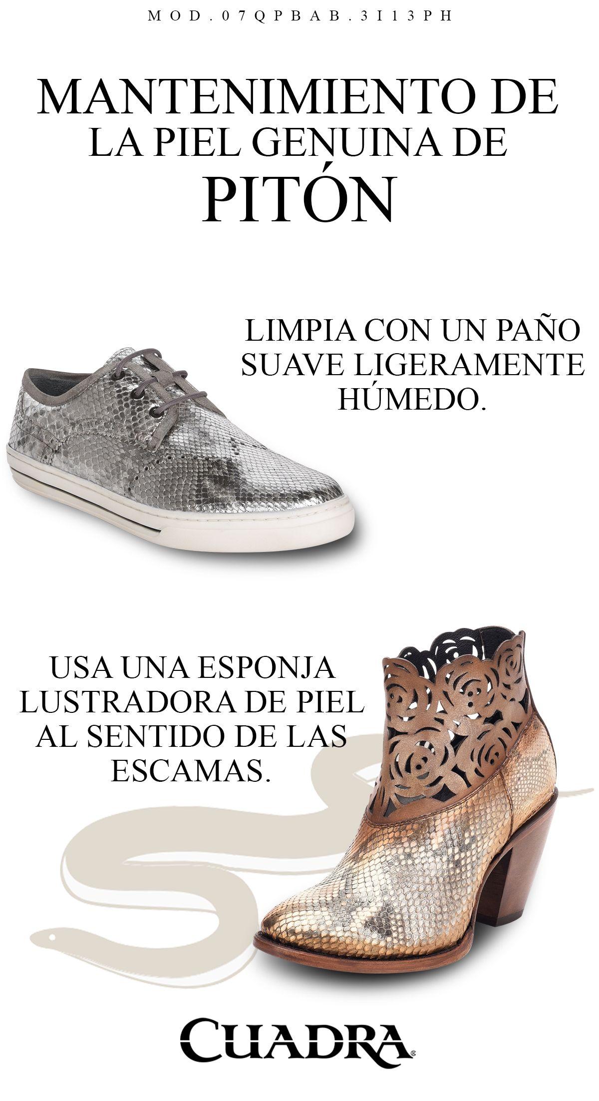 Como Cuidar La Piel De Piton De Tus Cuadra Blog Cuadra Botas De Piel Botas Vaqueras Mujer Zapatos