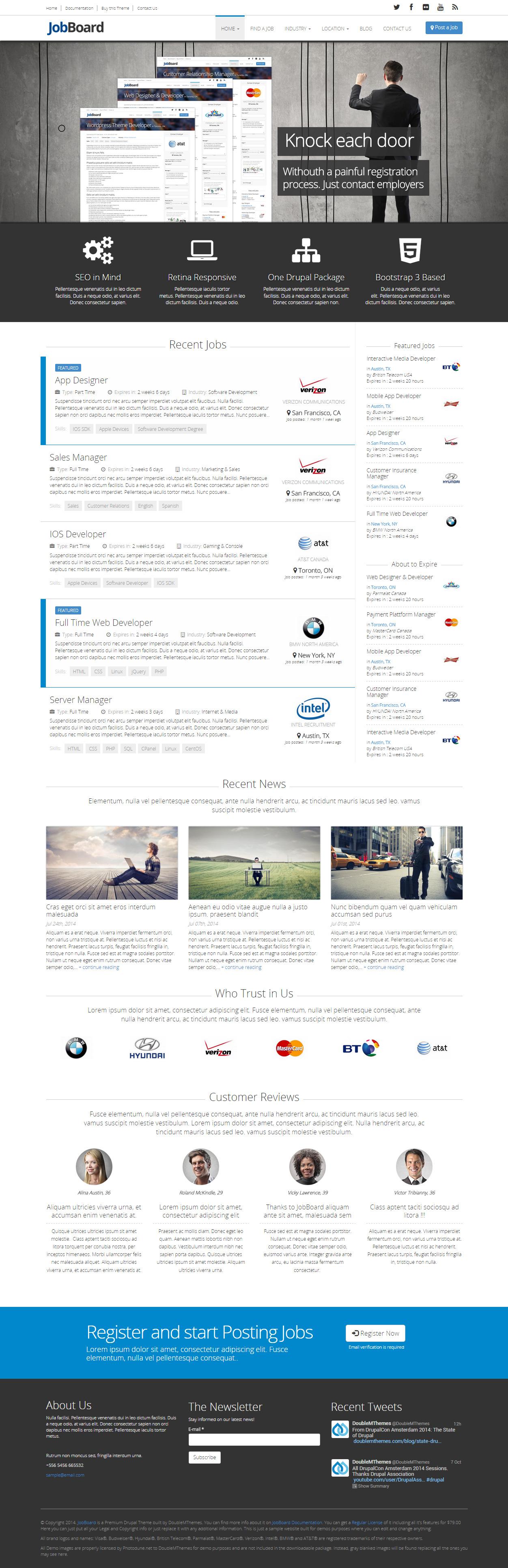 JobBoard - Premium Responsive Retina Drupal Job Board Theme